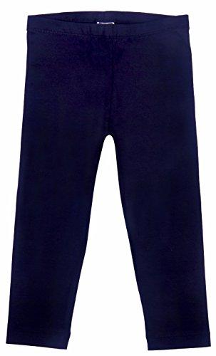 -Leggings für Mädchen, gekürzt, Perfekte Passform, Baumwolle/Lycra Gr. 98-104, navy (Halloween Kostüme Lokale)
