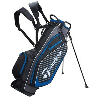 TaylorMade Golf 2018 Pro Stand 6.0 Stand Bag Mens Carry Bag 6 Way Divider Black/Charcoal/Blue