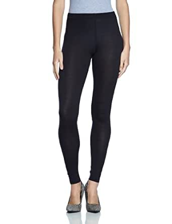 PIECES Damen 17046538/GAMMA SOLID LEGGING, Gr. 36/38 (S/M), Schwarz (Black)