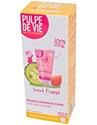 Pulpe de Vie Sucré Frappé Soin Masque + Gommage Visage Bio et 100% Naturel Réparateur et Vitaminé 75 ml