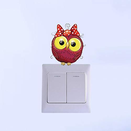 BAWANGLONG Reizender Eulen-Aufkleber-Schalter personifizierte farbige Dekor-Wohnzimmer-Schlafzimmer-Wand