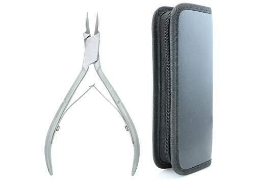 SMI 12,7 cm - Tagliaunghie per unghie incarnite per unghia del dito unghie dei piedi pinze per unghie professionali, taglio di unghie di precisione acciaio inossidabile di alta qualità - con custodia