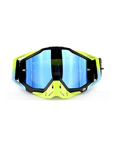 WYSTAO Radfahren Sport Windschutzscheibe Motorrad Cross-Country-Brille Reitbrille Winddichte Brille verstellbare Anti-Skid, geeignet für das Skifahren Off-Road-Wüste Männer und Frauen Ausrüstung