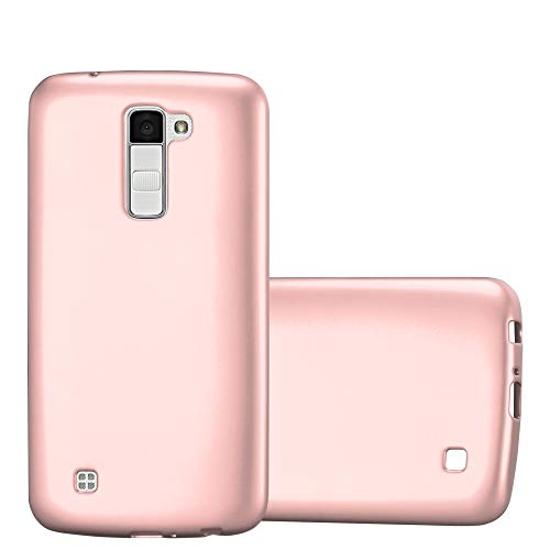 d267288ce5e Cadorabo Funda para LG K10 2016 en Metallic Oro Rosa - Cubierta Proteccíon  de Silicona TPU