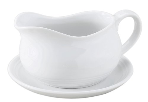 Hic Saucenkelle Hotel Boat with Saucer, 24 Oz - Hotel Boat with Saucer, 24 oz. Import Gravy Boat