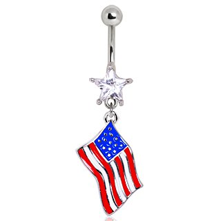 Cancella Crystal Star USA Flag Logo americano