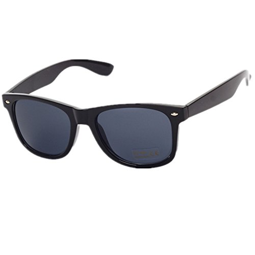 Price comparison product image Shiratori Colorful new polarized sunglasses classic retro glasses sunglasses driving mirror bright black