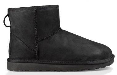 ugg-mini-classic-leather-scarpe-a-collo-alto-donna-nero-39-eu