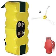 GPISEN 3800mAh Batería de repuesto con 1 cepillo lateral para iRobot Roomba 500 600 700 Series