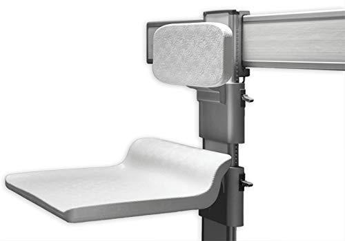 Bernstein Badshop Duschklappsitz Duschsitz NT415 mit Rückenlehne - Sitz und Rückenlehne höhenverstellbar