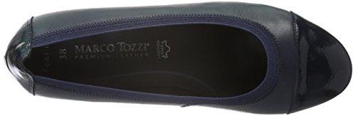 Marco Tozzi Premio 22302, Escarpins Femme Bleu (NAVY ANTIC COM 820)