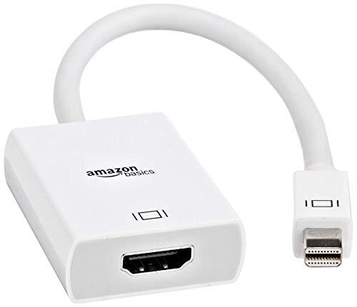 AmazonBasics Adaptateur Mini DisplayPort Thunderbolt vers HDMI Compatible avec Apple iMac et MacBook