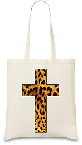 Cruffix Leopard Druck - Crufix Leopard Print Custom Printed Tote Bag| 100% Soft Cotton| Natural Color & Eco-Friendly| Unique, Re-Usable & Stylish Handbag For Every Day Use| Custom Shoulder Bags By