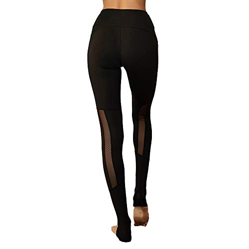 Sportbekleidung Frauen Mesh Garn Slim Fit Yoga Hosen hohe Taille Stretch Leggings für Pilates Fitness-Gymnastik Training engen Sport Abnehmen Leggings für die tägliche Bewegung Dauerhafte Sportbekleid