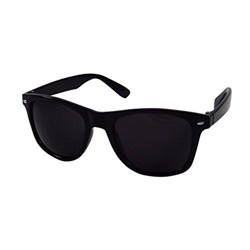 Silver Kartz Unisex Wayfarer Sunglass (WY011, Dark Black, Free Size)