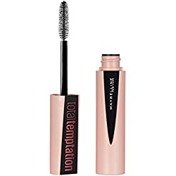 Maybelline New York Total Temptation Máscara de Pestañas Volumen y Longitud, Tono 01 Negro