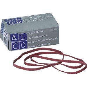 Alco Gummibänder 150x4mm 50g rot