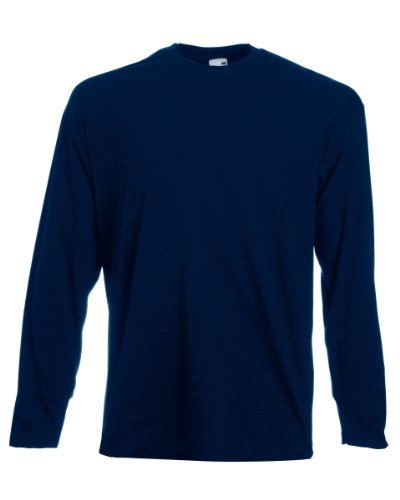 Fruit Of The Loom - Maglia 100% Cotone - Uomo (XL) (Blu scuro)
