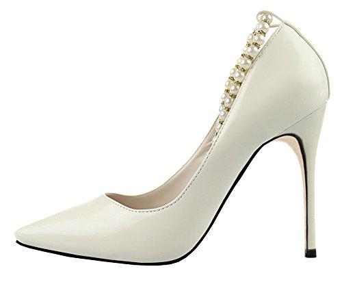 Guoar Scarpe chiuse Donna Bianco bianco Nuovo Online Perfezionare  Preordinare