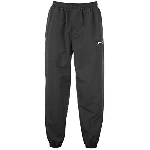Slazenger Woven Herren Jogginghose Trainingshose Sporthose Sweathose Taschen Schwarz Small (Track Pants Mens)