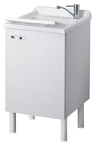 Negrari 6006skbba lavatoio lavapanni in nobilitato idrofugo, misure l 45 x p 50 x h 84 cm, bianco