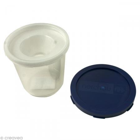 Nerchau Wasserbecher mit Auslaufschutz & Deckel, 1 Stück Wasser Becher