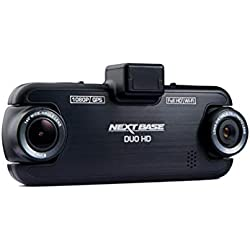 Nextbase DUO HD – Full 1080p Front and Back Dual Lens DVR In-Car Dash Camera - 140° Viewing Angle – WiFi and GPS - Black