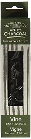 Winsor & Newtown artiste vigne Charcoal bâtons 12/Pkg-Soft