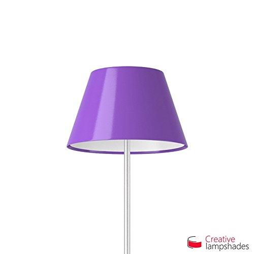 Creative Lampshades Abat-jour Empire Revêtement Lumière Violet - 2pcs Diam. 20-13cm - H. 12.5cm, E14 Pour Lampe de Table, NON