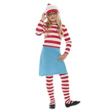 Smiffys Officially Licensed Where's Wally? Wenda Child Costume, Large