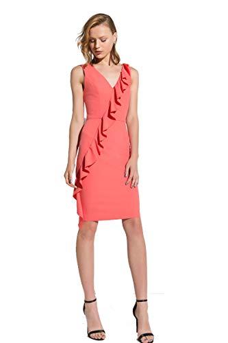Artigli [:it abito donna dress woman robe femme 42 44 48 salmone elegante classico rouches primavera estate[:en] dress woman[:fr] robe femme[:], salmone, 46