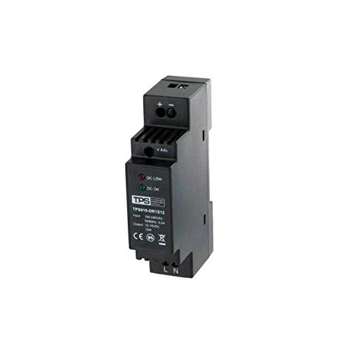 TPS Elektronik TDR10-12VK - Fuente de alimentación para carril DIN  (estabilizada, 10 W, 12 - 15 V, 830 mA)