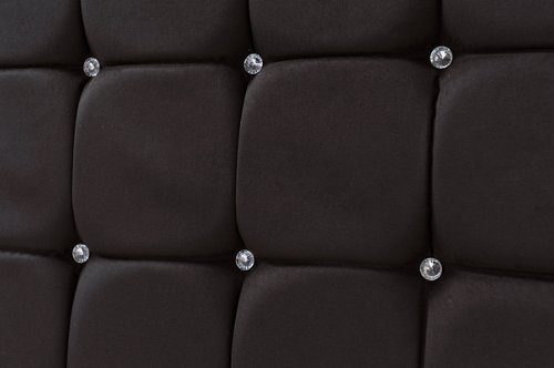 Crystal Headboard S Series in Faux Suede Black --King(5FT)