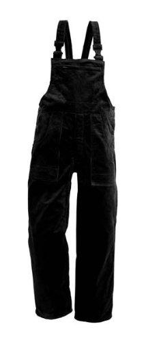 EIKO Arbeits-Latzhose Genua Cord - schwarz - Größe: 60