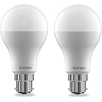 Wipro Garnet Base B22 14-Watt LED Bulb (Pack of 2, Cool Day Light)