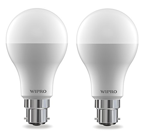 Wipro Garnet Base B22 14-Watt LED Bulb (Pack of 2, Cool Day Light)
