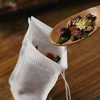 Alcoa Prime 100 Spice Boutique Self Fill Tea Bags Empty Drawstring for Loose Tea 7x9.5cm