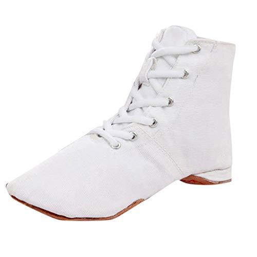 Dasongff Gymnastikschuhe Tanzschuhe Atmungsaktiv BallettschuheSegeltuchschuhe Frauen Lose Dance Schuhe Ballschuhe