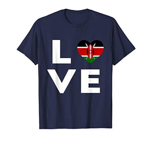 Love Kenia Flagge T-Shirt - Kenia Flagge T-shirt