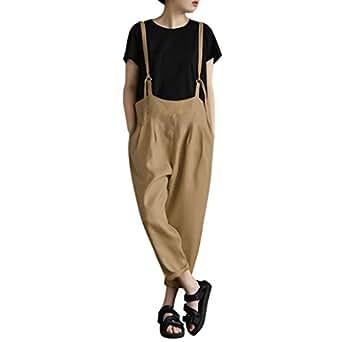 c275e82cd95d Immagine non disponibile. Immagine non disponibile per. Colore: Topgrowth  Pantaloni Tuta Donna Sciolto Casual Cascante Pantaloni con Bretelle ...