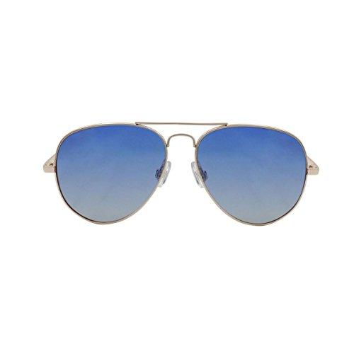 OCEAN SUNGLASSES - Banila aviator - lunettes de soleil en MÃBlackrolltal - Monture : DorÃBlackroll - Verres : DÃBlackrollgradÃBlackroll Bleu (18110.3)