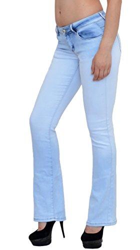 by-tex Damen Jeans Hose Bootcut Damen Jeanshose Boot-Cut Damen Hüftjeans in aktuellen Designs CC