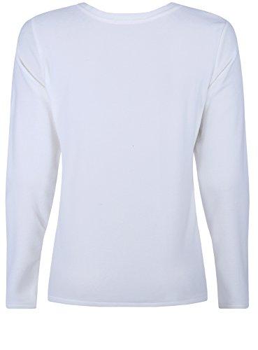 oodji Ultra Femme Pull avec Encolure Arrondie et Imprimé «Hibou» Blanc (1223P)