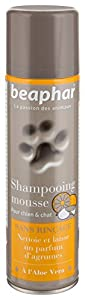 Beaphar - Shampooing mousse sans rinçage à l'Aloe Vera - chien et chat - 250 ml