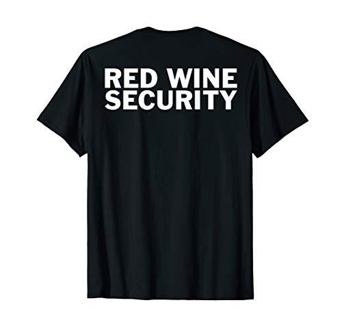 Halloween Kostüm Lustigsten - Halloween Kostüm Rot Weinliebhaber - Red Wine Security T-Shirt