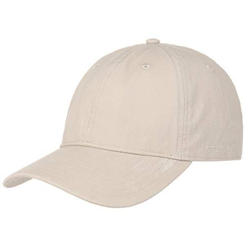 Stetson Ducor Sun Guard Fullcap Herren | Baseballcap aus Bio-Baumwolle (nachhaltig) | Frühjahr/Sommer | Cap mit Sonnenschutz UV 40+ | Basecap Stonewashed-Look | Outdoorcap beige XXL (62-63 cm) -