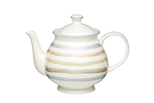 KitchenCraft Classic Collection 6-Cup Ceramic Vintage-Style Teapot, 1.4 L (2.5 pts) - Cream