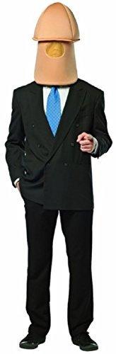 Herren Herr Willy Penis Dickhead mit Kapuze voll Junggesellenabschied Abend Party lustig Komödie Frech Kostüm Kleid Outfit Zubehör Maske