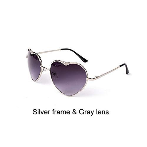 Sport-Sonnenbrillen, Vintage Sonnenbrillen, Fashion Heart Sunglasses Women Brand Designer Love Shaped Metal Frame Sun Glasses Vintage Glasses De Sol CC0051 C4