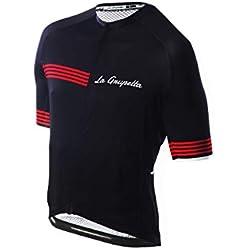 La Grupetta Maillot M/C Quality Negro-Rojo T.XL